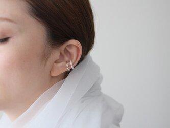 《軽量》石目ダブルラインイヤーカフSV925片耳用の画像