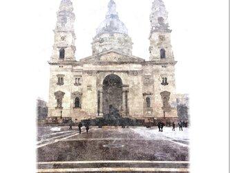 ブダペストの風景(油絵風)の画像