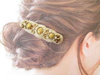 Hair accessory バレッタ ビーズ刺繍 (K1038)の画像