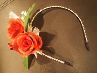 送料無料バラのカチューシャの画像