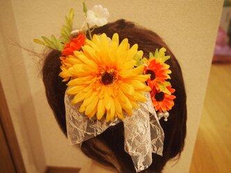 送料無料お花の髪飾りセットの画像