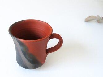 :無名異焼のマグカップ:窯変の画像
