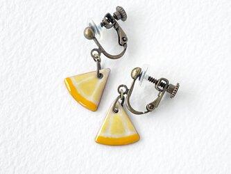 【七宝焼き】レモンイヤリングの画像