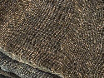 kaya004301 麻布 蚊帳の解き140cm 藍染☆古布古裂/木綿/筒描き/型染め/藍染/絹/ボロ襤褸の画像