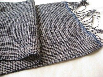 手ぬぐいのような手織りストールの画像