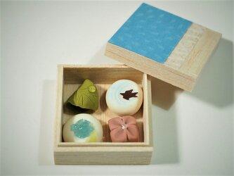 和菓子の詰め合わせ(紫陽花)の画像