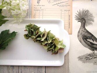 ミニ紫陽花のバレッタ ■ Chuchu シリーズ ■No.24 モーブグリーンの画像