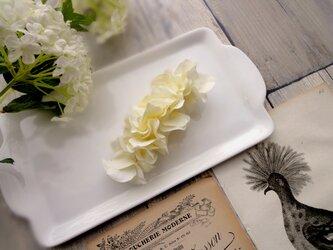 ミニ紫陽花のバレッタ ■ Chuchu シリーズ ■No.37 クリームの画像