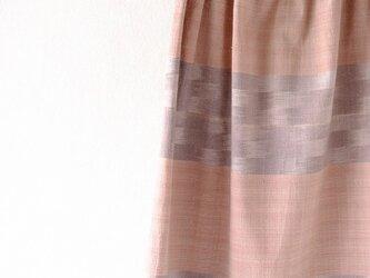 手織り絣木綿のシンプルなスカートの画像