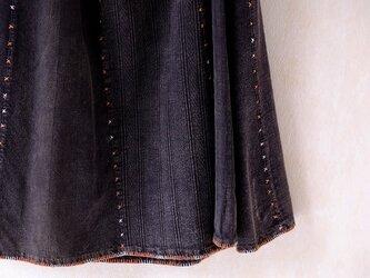 カレン族ステッチのラップスカートの画像