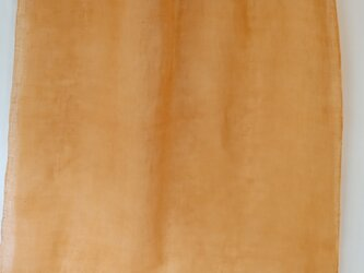 草木染め山吹色リネンガ―ゼスト―ルの画像