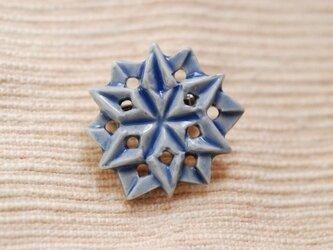 ブローチ六角星 瑠璃 Sの画像