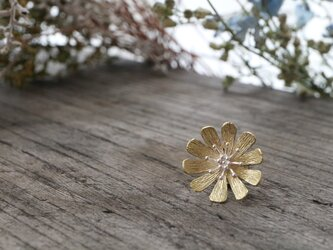 Brass and silver pinbrooch 「Her smile」の画像