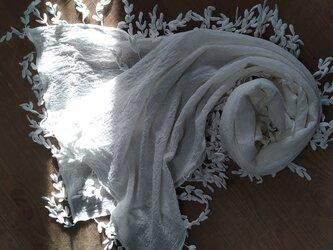 麻 綿ケミカルレース ストールの画像