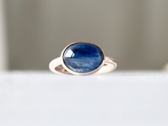 K10[藍色のimpact カイヤナイト]ringの画像