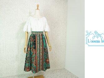 彩りエキゾチックのフレアースカートの画像