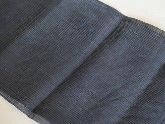 asa0037 縞紋様麻布 280cm 古布古裂/木綿/筒描き/型染め/藍染/絹/ボロ襤褸の画像