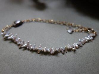 あこやケシパール・黒蝶真珠ケシパール ブレスレットの画像