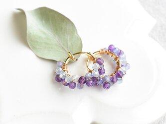 紫陽花 レースフープ/チタンピアスの画像