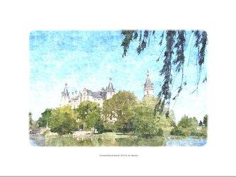 シュヴェリーン城(油絵風)の画像