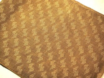 asa004802 格子文様麻布 280cm 古布古裂/木綿/筒描き/型染め/藍染/絹/ボロ襤褸の画像