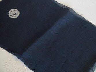 asa0038 色麻布 270cm 古布古裂/木綿/筒描き/型染め/藍染/絹/ボロ襤褸の画像