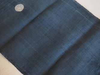asa0046 色麻布 300cm 古布古裂/木綿/筒描き/型染め/藍染/絹/ボロ襤褸の画像