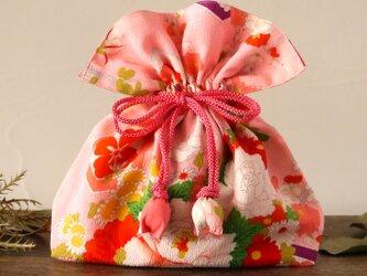 ☆アンティーク☆ 着物 巾着 めでた尽くし 幸せを呼ぶFUGURO 中サイズの画像