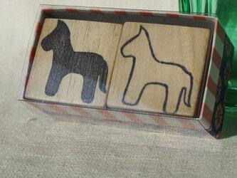 子馬のシンプルはんこの画像