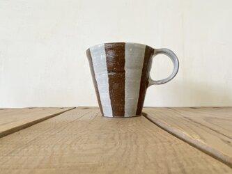 ストライプマグ(brown)の画像