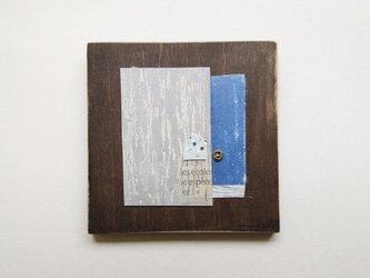小さな銅版画コラージュパネル【ある街Ⅱ】の画像