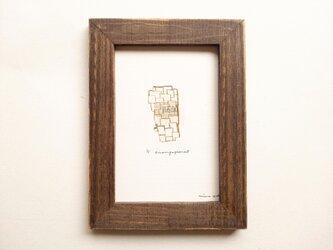 小さな銅版画【伴奏】フレーム付の画像