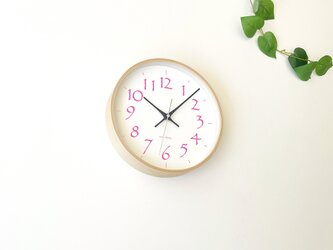 plywood clock 20 ライトピンク km-119LPRC 電波時計 連続秒針の画像