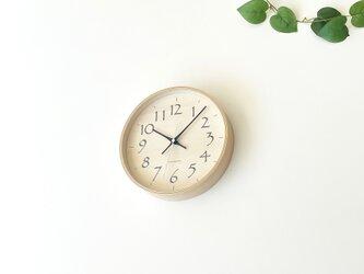 plywood clock 21 ブラック km-120BLRC 電波時計 シナ文字盤 連続秒針の画像