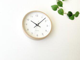 plywood clock 22 ブラック km-121BLRC 電波時計 連続秒針の画像