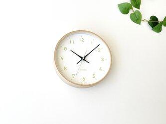 plywood clock 22 ライトグリーン km-121LGRC 電波時計 連続秒針の画像