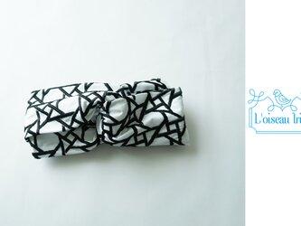 ヘアバンド ノワール幾何学刺繍の画像