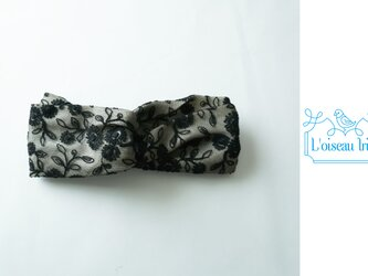 ヘアバンド シフォン刺繍の画像