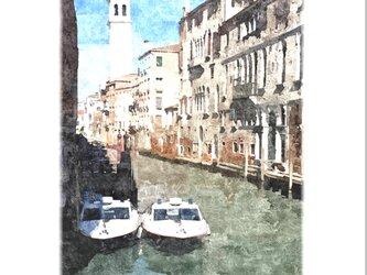 ヴェネツィアの風景-2(油絵風)の画像