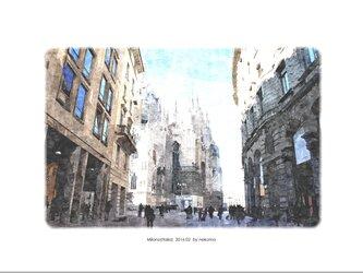 ミラノの風景(油絵風)の画像
