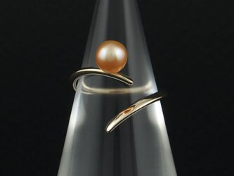 曲線に淡水真珠の指輪 26Rの画像