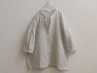シンプルストライプ*リネンシャツの画像