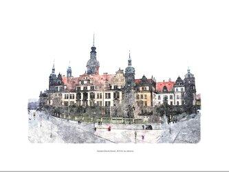 ドレスデン城(油絵風)の画像