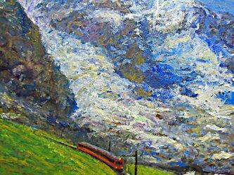 メンヒとアイガ-氷河の画像