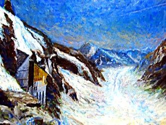アレッチ氷河の画像