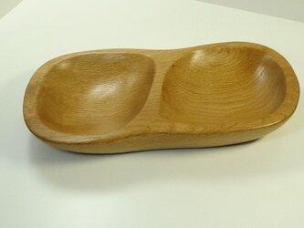 木の器(ナラ)2口の画像