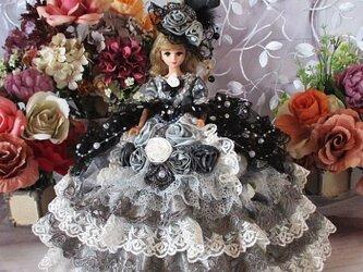 ☆Sale ロマンティックエレガント 星屑の煌めきが繊細で可憐なシルエットプリンセスドレスの画像