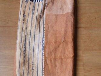 大鵬の浴衣で柿渋染めワイドパンツ 木綿の画像