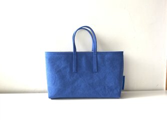 miniバッグ/横タイプ/ブルー×グレーの画像