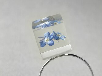 勿忘草のコイルリング シルバーカラー(無料ギフトラッピング, メッセージカード, 誕生日プレゼント)の画像